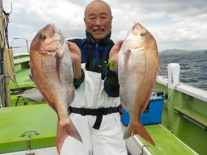 マダイ船 船中41匹!!!